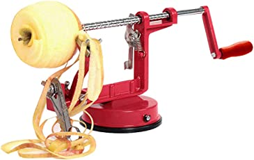 EXQULEG Apfelschäler,Apfelentkerner,Apfelschneider,Apfelschälmaschine - 3 in 1 Profimaschine Profi-Apfelschäler