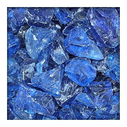 Kieskönig Glasbrocken Glasbruch Glassteine Glas Gabione 60-120 mm Azure-Blau 50 kg