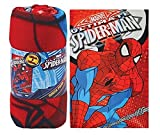 Marvel Avengers Printed Soft Fleece Bed Blanket/ Throw - Spiderman