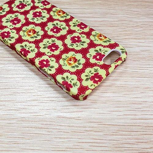EKINHUI iPhone 6S Plus h¨¹lle, Art und Weise Neue kleine frische Weinlese -Blumenblumenmuster Design Kunststoff Hard Case f¨¹r das for iPhone 6S Plus(1) 7