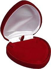 EYS JEWELRY® Schmuck-Etui für Collier 95 x 94 x 28 mm Samt bordeaux-rot Halskette-Box Schachtel Schatulle Geschenk-Verpackung EYSBOX