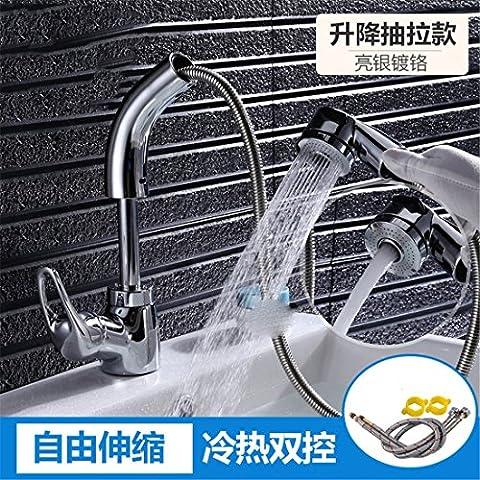 Modèle européen robinet tout en cuivre pull-type robinet chaud et