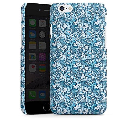 Apple iPhone 5s Housse Étui Protection Coque Lys Bleu Bleu Cas Premium mat