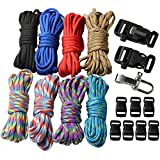 Best Paracords - UOOOM 18 pcs Paracord Bracelet kit with Buckles Review