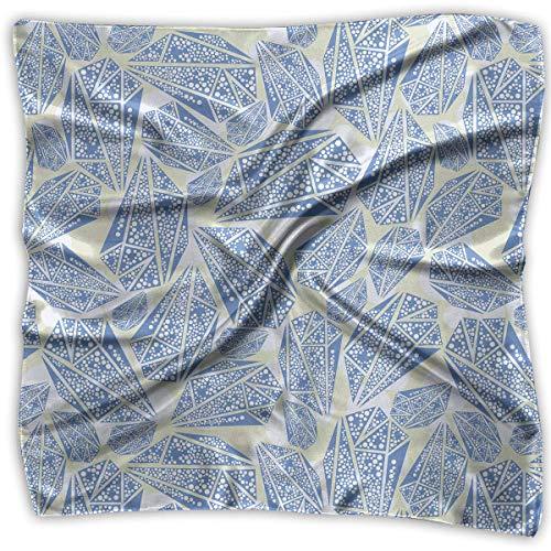 Dreieck-Muster, seidenähnlich, leicht, Halstuch, Kopftuch ()