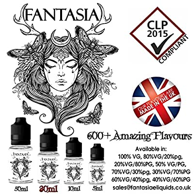 Blueberry Bubblegum E Liquid E Saft E Shisha ÖL 100% VG 0mg Nikotin 30ml FREE UK Delivery von Fantasia E Liquids
