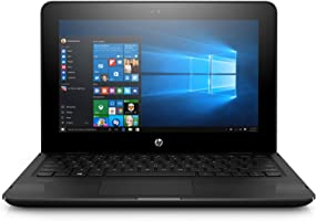 HP Stream 11-ag002ne Laptop, Celeron-N3060, 11 Inch, 32GB eMMC, 4GB RAM, Intel HD Graphics, Win 10, Eng-Ara KB, Black
