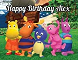 Backyardigans Edible Image Photo Cake Topper Sheet Personalized Custom Customized Birthday Party - 1/4 Sheet - 78691 by Sweet Custom Cakes