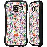 Officiel Emoji Floral Licornes Étui Coque Hybride pour Samsung Galaxy A3 (2016)