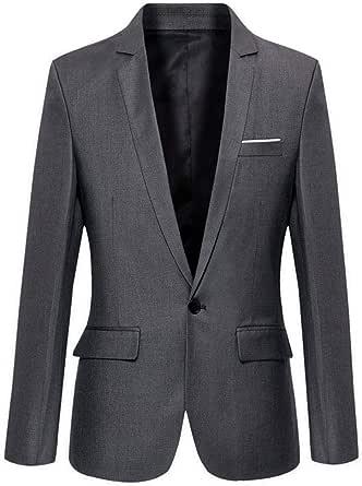 Benibos Mens Slim Fit Casual One Button Blazer Jacket
