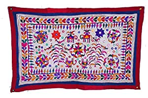 Heavy Old Banjara Embroidery Rabari Ethnic Kuchi Wall Tribal Hanging
