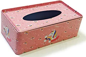 Glorygifts Attractive Tissue Box Tissue Paper Holder, Paper Napkin Storage for Home & Car(Peach)
