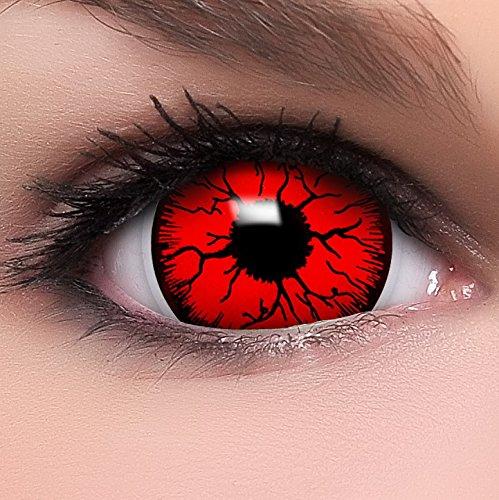 Kontaktlinsen Lenses Devil inkl. Behälter - Top Linsenfinder Markenqualität, 1Paar (2 Stück) ()