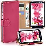 OneFlow Tasche für Samsung Galaxy S3 / S3 Neo Hülle Cover mit Kartenfächern | Flip Case Etui Handyhülle zum Aufklappen | Handytasche Schutzhülle Zubehör Handy Schutz Bumper in Pink