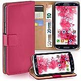 moex Samsung Galaxy S3 | Hülle Pink mit Karten-Fach 360° Book Klapp-Hülle Handytasche Kunst-Leder Handyhülle für Samsung Galaxy S3 / S III Neo Case Flip Cover Schutzhülle Tasche