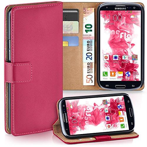 MoEx Samsung Galaxy S3 Hülle Pink mit Karten-Fach [OneFlow 360° Book Klapp-Hülle] Handytasche Kunst-Leder Handyhülle für Samsung Galaxy S3/S III Neo Case Flip Cover Schutzhülle Tasche
