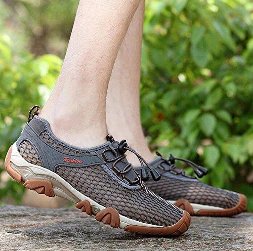 Baymate Homme Chausson de Sport Respirant Chaussures de bain Confortables Chaussons d'eau Gris