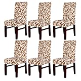 Pack de 6fundas elásticas para respaldo de silla, lavables, extraíbles, fundas de asiento para hotel, restaurante, sala de comedor, de fiesta