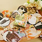 SLB Works 40pc/lot Diary Decoration Scrapbooking DIY Cute Cat Paper Stickers+Gift Box