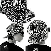 Malloom Moda Vintage Gorra de béisbol Bill sombrero plano Hippie Hiphop  ojos casquillo ajustable (negro 1e33f6ec7c1
