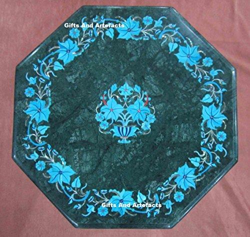 Inlay-top-couchtisch (30,5cm grün marmor türkis Stein Inlay Muster, Utility Tischplatte)