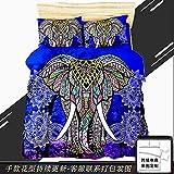 GAOXUE Bettbezug Set,3D-Bedruckte Bettwäsche mit weichem und antiallergischem Bettbezug und Kissenbezug, geeignet für EIN Doppelbett @ 140 * 210 (2 Stück) _Elefant