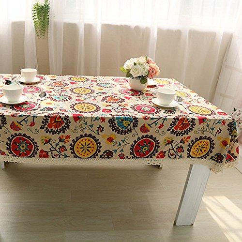 Mantel Colorida para Mesa Cubierta Floral para Refrigerador Refrigerador Hornos Televisión