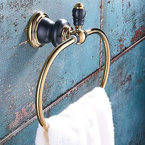 WSGZH Handtuchring/Kupfer Handtuchständer/Bad Punch Free Handtuchhalter/Wand-montiert Retro Hanging...