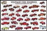 empireposter - Educational - Bildung - Vintage Fire Engines Feuerwehr-Autos - Größe (cm), ca. 91,5x61 - Poster, NEU - Version in Englisch