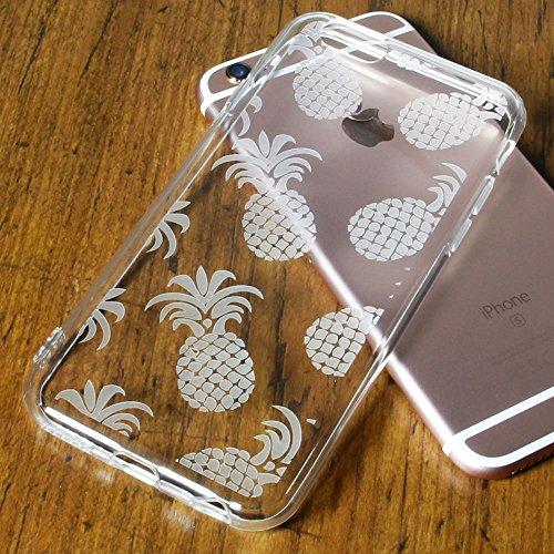 Vanki® TPU Weiche Silikon Transparent mit Ananas Seestern Apfelbaum Katze Elefant Muster Schutzhülle Ultradünnen Case für iPhone 6 Plus/6S Plus (5,5 Zoll) (Ananas) Ananas