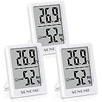 Sonomo Lot de 3 thermomètres-hygromètres, thermomètres intérieurs, thermomètres numériques pour l'intérieur, salon…