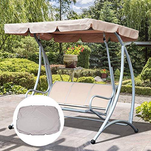 kaersishop Garden Seater Swing Chair Ersatz Baldachin Ersatzbezug, wasserdicht regendicht Anti-UV Staubschutz, Protector Swing Canopy Top Cover Ersatz (195 125 15cm) - Canopy Top Cover