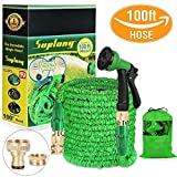 Suplong 100FT Expandable Garden Water Hose Pipe Expanding Flexible Hose Magic Water Hose