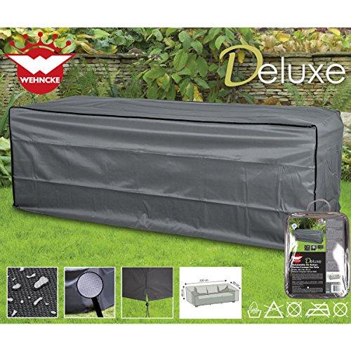 Deluxe Schutzhülle für Rattan 3er Garten Sofa 220x80cm, Polyester 420D - Lounge Gartenmöbel Schutz Hülle Plane Abdeckung