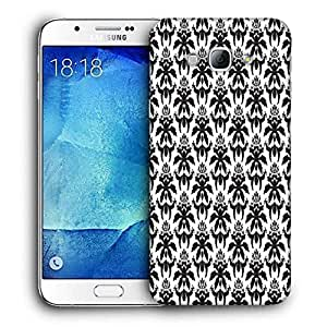 Snoogg Dark Black Pattern Printed Protective Phone Back Case Cover For Samsung Galaxy A8