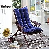 Chengyu Sitzkissen mit hoher Rückenlehne, 48x 120cm, für Liegestuhl/Schaukelstuhl, für den Winter, weich, warm, atmungsaktiv, saugfähig, für zu Hause, Büro, Stuhl, Auto und Außenbereich blau