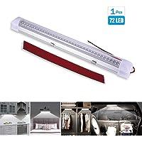 Luci Interne 12V-80V 72 LED Strip Lights Bar Lampada Illuminazione Universale DC 4W , Luci Camion Motorhome Cucina Bagno…