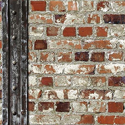 Muriva Tapete Loft Ziegelsteine Und Balken Mehrfarbig