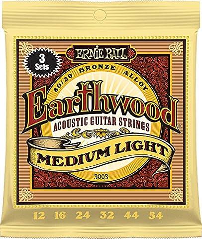 Ernie Ball Earthwood Medium Light 80/20 Bronze Sets, .012 -