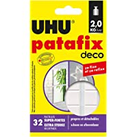 UHU Patafix Deco, pasta da fissare, pastiglie pre-tagliate super forti (fino a 2 kg) e riposizionabili, 32 pastiglie…