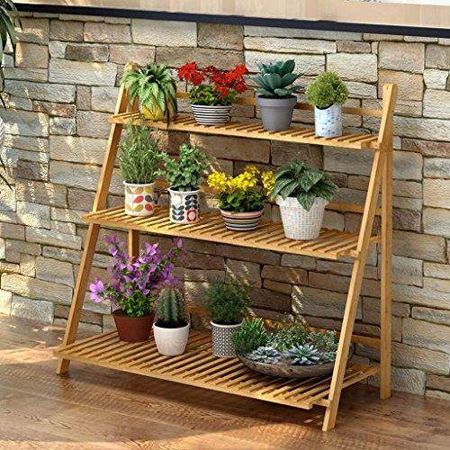 Blumen-Racks Multifunktions-Bambus-Blumen-Racks Wohnzimmer Faltbare Mehrfach-Layer Blumentopf-Rack (drei Größen optional) ( größe : 100cm ) -