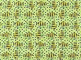 Baumwolljersey Tigerente hellgrün, Meterware ab 0,5