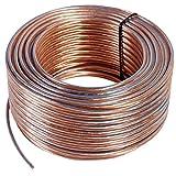 Misterhifi kabel, hifi--zubehör & mehr 100 m Lautsprecherkabel 2 x 2,5 mm², Litze: 2 x 78 x 0,2 mm, transparent isoliert, Kupferkabel mit 99,99 % OFC, Made in Germany, Boxenkabel / Audiokabel für Lautsprecher und Heimkino