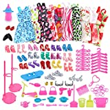#7: TOYMYTOY Doll Clothes Set Girls Play House Party Birthday Gift 83pcs (Random Color)