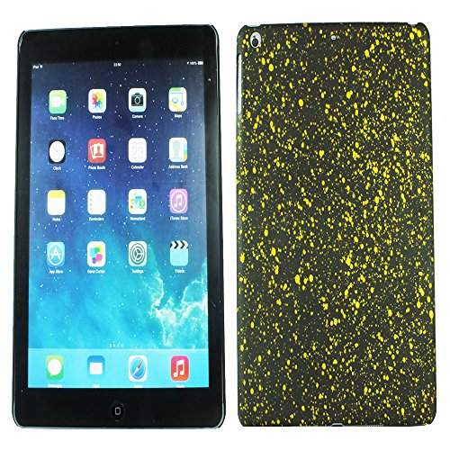 Heartly Night Sky Glitter Star 3D Printed Design Retro Color Armor Hard Bumper Back Case Cover For Apple iPad Air Tablet (iPad 5) - Sweet Yellow  available at amazon for Rs.109