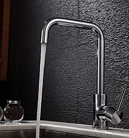 Modern copper single handle single hole tap vertical vertical bending water basin/kitchen/sink faucet