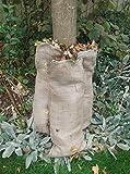 10x grande compostabile Foglia Sacchi per compostaggio foglie di juta naturale Iuta Borsa