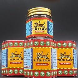 Tiger balm - Baume du tigre rouge - 3 x 30 g - Le véritable baume du tigre