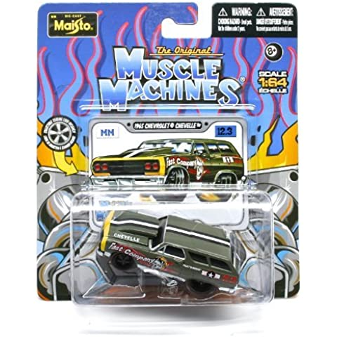 1965 Chevrolet Chevelle (Fast Company) * The Original Muscle Machines * Series 12 Maisto 1:64 Scale Die-Cast Vehicle Collection by Muscle Machines - 1965 Chevrolet Chevelle