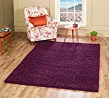 A2Z RUG SOFT SUPER THICK SHAGGY RUGS Purple 60X110 CM -2'X3'6'' FT AVAILABLE IN MANY COLOURS AND SIZES AREA RUGS